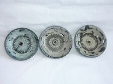 Antique 3 Pcs Chinese Porcelain Blue and White Painted Small Dish / Plate