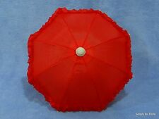 """RED DOLL UMBRELLA Parasol fits 18"""" AMERICAN GIRL Doll Clothes Accessory"""