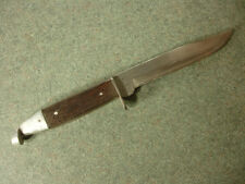 Old Vintage Collectible Woodsman Fixed Hunting Blade Knife with Brown Handle