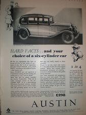 The Austin Twelve Six motor car 1932 advert
