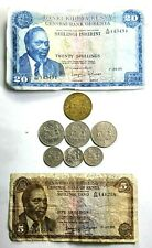 Kenya Coins & Banknotes Collection 5 20 Shillings, 10 50 Cents 1966-1972   SFO30