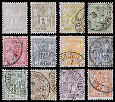 Luxembourg Scott 48-59a (1882) Used/Mint H F-VF Complete Set, CV $287.80