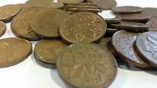 FULL ROLL 1962 CANADA ONE CENT PENNIES CIRCULATED