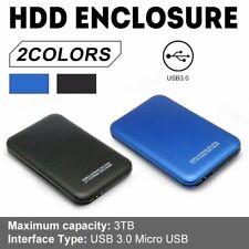 Portable USB 2/3.0 External Hard Drive Disk 2.5 '' 2TB Storage Devices Case Box