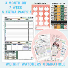 🌸🌸A5 Diet Planner Pages Filofax Kikki Diary WEIGHT WATCHERS Stationary🌸🌸