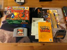Pokemon Stadium Nintendo 64 N64 Game Complete CIB Manual Box Transfer Pak Pack !