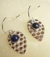 Handmade Lapis Lazuli Drop/Dangle Natural Fine Earrings