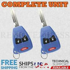 2 For 2006 2007 Dodge Charger Keyless Entry Remote Car Key Fob 3b Blue