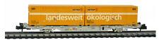"""SBB Containertragwagen mit zwei Postcontainern """"landesweit-ökologisch"""" Spur N"""