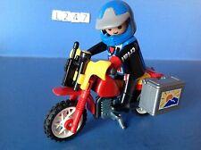 (L247) playmobil moto trial cross explorateur