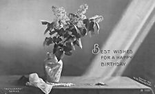 BIRTHDAY GREETINGS~LOT OF 2 ROTOGRAPH 1906 PHOTO POSTCARDS