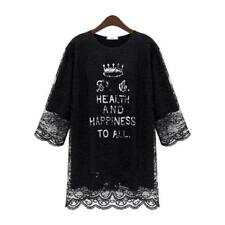 Lace 3/4 Sleeve Regular Size Dresses for Women