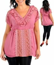 Polyester Short Sleeve Hand-wash Only Solid Tops & Blouses for Women