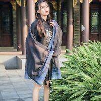 Lady Kimono Cardigan Jacket Coat Blouse Yukata Chiffon Japanese Flare Sleeve Top