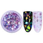 Fluorescent Glass Paper Nail Flakies Irregular Paillette Nail Glitter Sequins