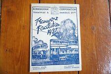 More details for c1950s 1960s leeds city transport route map tram bus coach