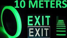 10 Meter Glow In The Dark Tape Photoluminescent Egress Multi-purpose Tape 10 mm