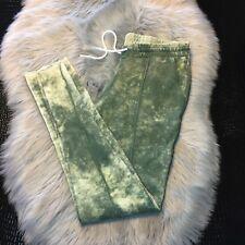 Cotton Citizen Slim Sweat Pants Sz S 100% Cotton Drawstring Camouflage Made USA