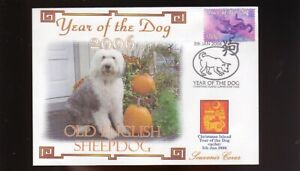 OLD ENGLISH SHEEPDOG 2006 YEAR OF THE DOG STAMP COVER 5