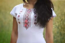 Ukrainian embroidered sorochka, t-shirt, blouse vyshyvanka, embroidery, Size XL