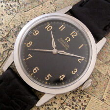 Mens MINT 1959 Omega Black Dial Automatic S/S Case Vintage 470 Cal. Swiss Watch