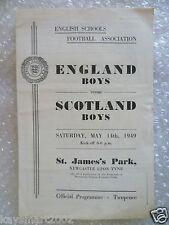 1949 England Boy v Scotland Boy International Schools match, 14th May;St James's
