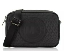Michael Kors Fulton Sport LG EW Signature PVC Leather Crossbody-BLACK