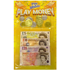 New Pretend Fake Role Play Money Coins Notes Kids Toy Fun Learning Monopoly Set
