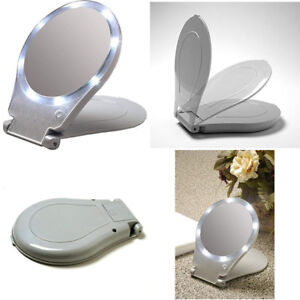 Floxite LED Lighted Travel and Home 10x Magnifying Mirror - Authorized Dealer