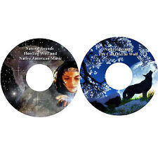 Natural Sounds Wolves & Native American Music 2 CDs Relaxation Stress Relief