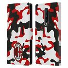 OFFICIAL AC MILAN CREST PATTERNS LEATHER BOOK WALLET CASE FOR BLACKBERRY ONEPLUS