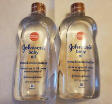 Johnson's Baby Oil, Shea & Cocoa Butter, 20 fl. oz pack of 2 New