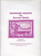 Showgard Stamp Mounts Souvenir Sheet Strip Set Lot MPKII 15 Sizes 76 - 171 Black