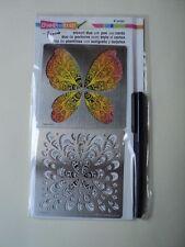 Stampendous Stencil Duo con penna e schede fmsd 102 NUOVO con confezione * Look *