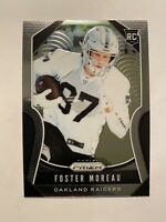 2019 Panini Prizm Foster Moreau Rookie Card #372 - ** MINT! WOW!! MUST SEE!!! **