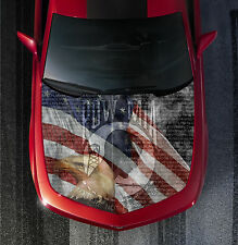 H55 POW MIA AMERICAN FLAG Hood Wrap Wraps Decal Sticker Tint Vinyl Image Graphic