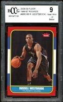 2008-09 Fleer 1986-87 Rookies #86R166 Russell Westbrook BGS BCCG 9 Near Mint+