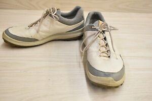 ECCO Biom Hybrid 3 GTX Waterproof Leather Golf Shoes, Men's 10EW, Ivory/Grey