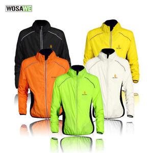 Cycling Men Windbreakers Windproof Splash Rain Coat Waterproof Breathable Jacket