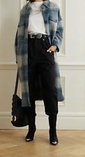 ISABEL MARANT ÉTOILE Gabrion Oversized Checked Coat Blue Size 38 Orig. $680 NWT