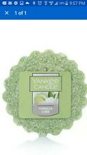You will NEW YANKEE CANDLE *Vanilla Lime* SCENT WAX TART