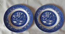 Washington OLD WILLOW Made in England Sandwich Cake Side Plates x 2