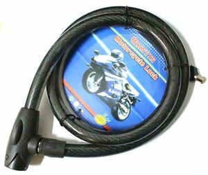 Cadenas Moto Chaine Antivol Scooter Vélo Haute Qualité 1M x 2cm 2 Clés