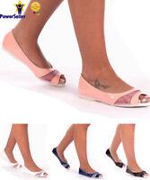 New Womens Ladies Open Toe Flats Cut Casual Ballet Lace Flat Sandals Shoes Pumps