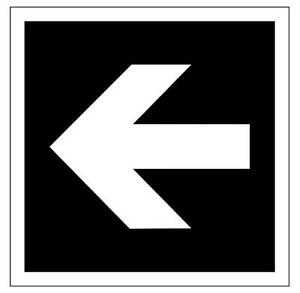 Arrow to Show Proper Direction Sign Plaque in 30 Colours 7 Sizes Directional