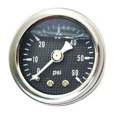 """Öldruckmanometer, -anzeige carbon-schwarz 60PSI - 1/8""""NPT  Harley Davidson"""