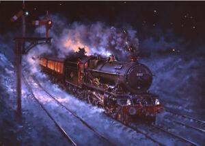 GWR King Class Railway Engine Steam Train Blank Christmas or Birthday Card