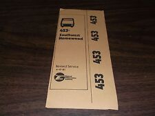 April 1981 Chicago Rta Route 453 Northwest Homewood Bus Sc