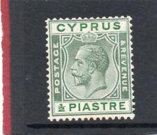 Cyprus GV 1925 1/2pi. green sg 118 HH.Mint