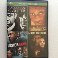 Movie DVD Denzel Washington At His Beast, Four Feature Films, Used